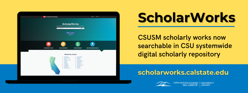 Image for the Spotlight on CSUSM Scholarly Works Added to New CSU Repository