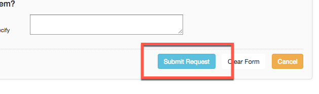 "Image showing the ""submit request"" button in the CSUSM library interlibrary loan system"