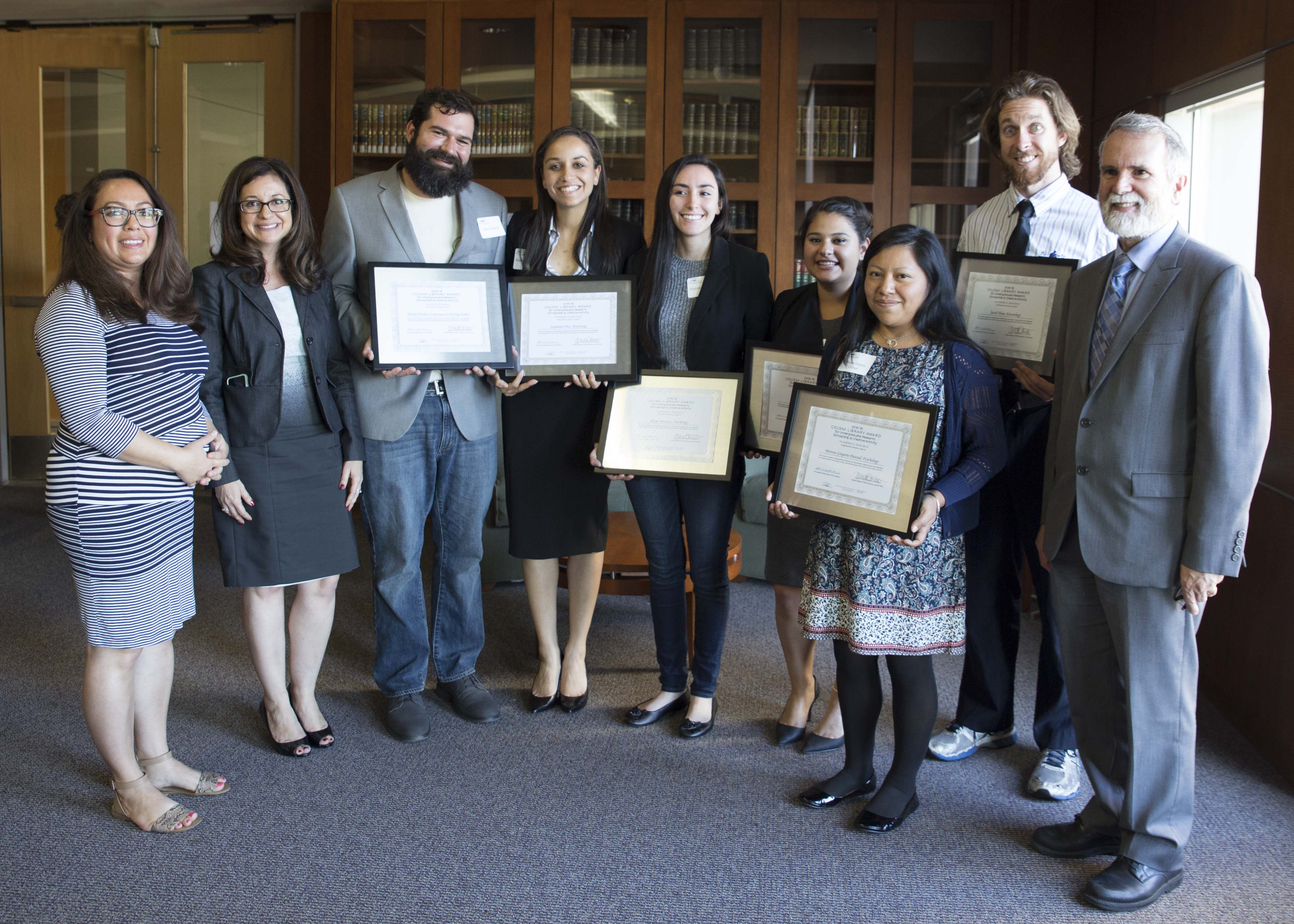 Winners of the 2015-16 CSUSM Library Award for Undergraduate Research, Scholarship and Creative Activity